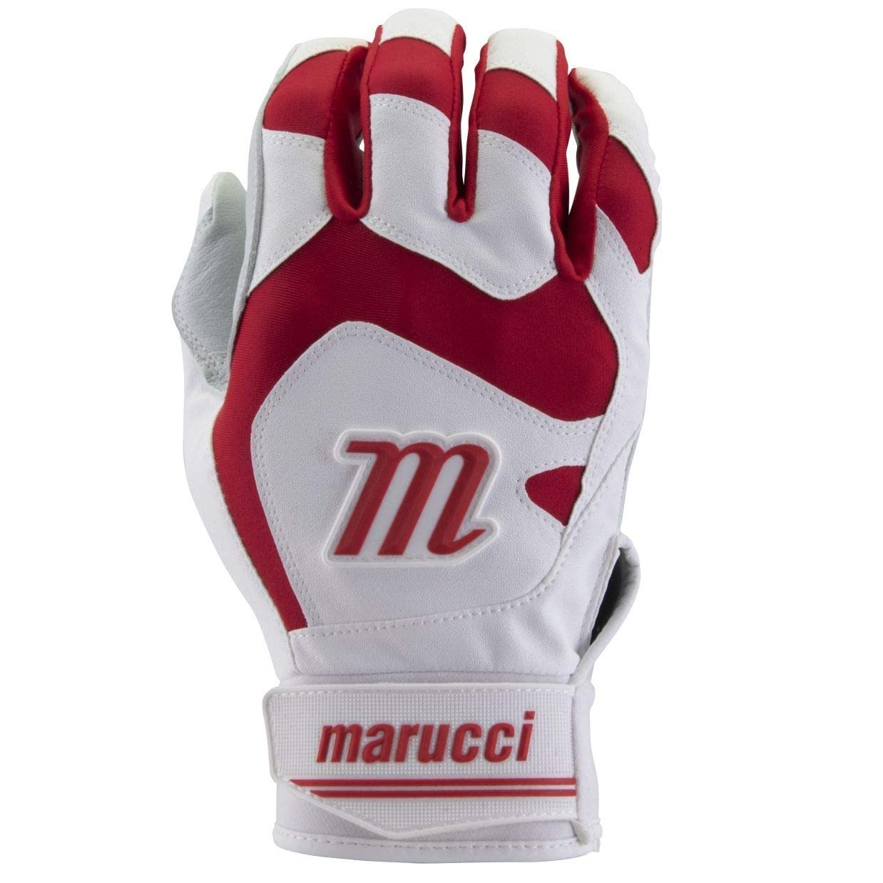 marucci-signature-youth-batting-gloves-red-youth-medium MBGSGN2Y-RW-YM Marucci  Digitally embossed perforated Cabretta sheepskin palm provides maximum grip and durability