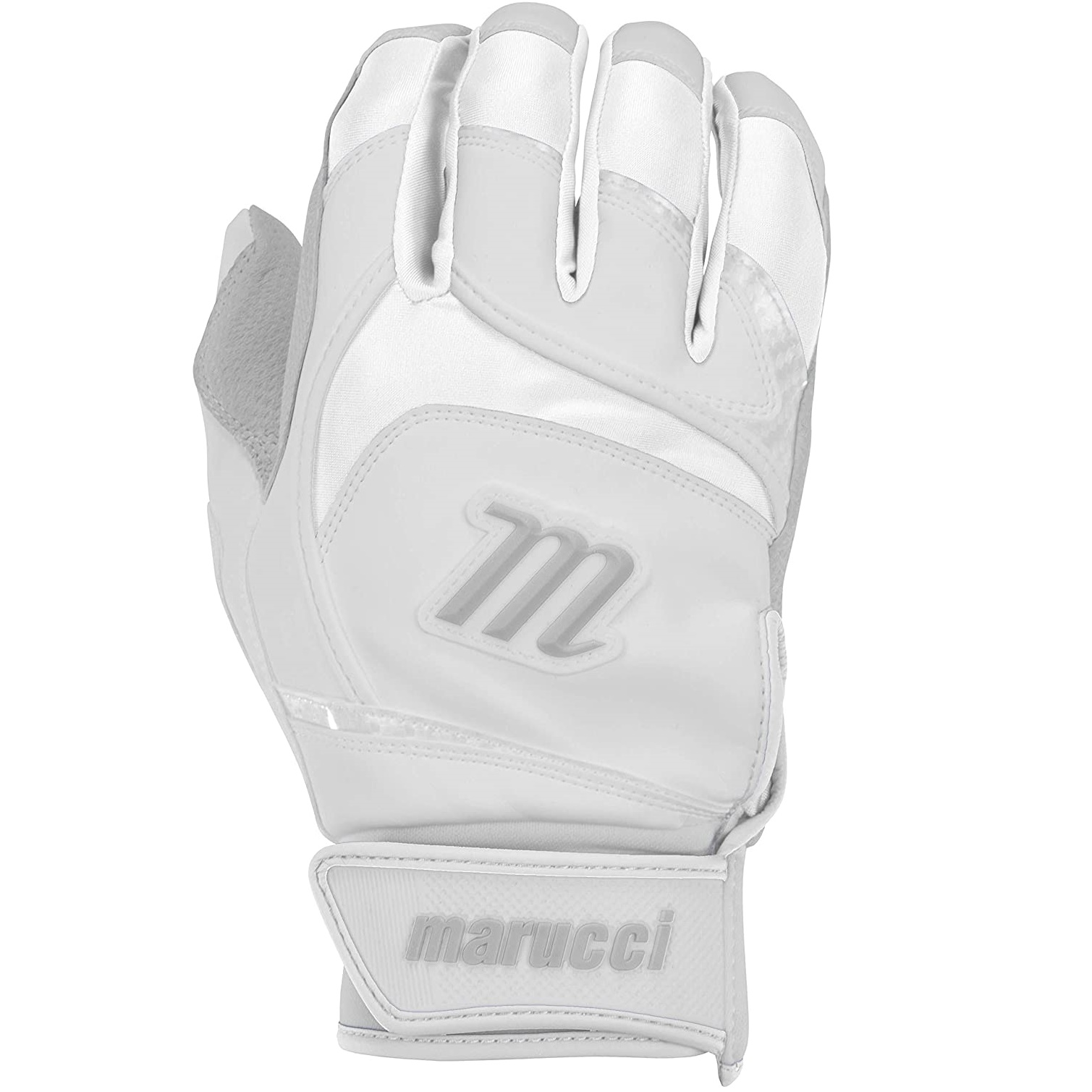 marucci-signature-youth-batting-gloves-white-youth-large MBGSGN2Y-WW-YL Marucci  Digitally embossed perforated Cabretta sheepskin palm provides maximum grip and durability