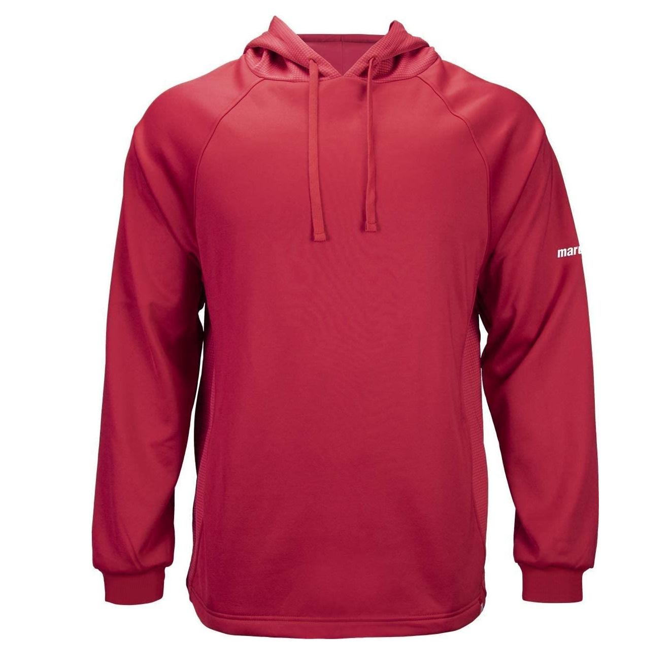 marucci-sports-mens-warm-up-tech-fleece-matflhtc-red-adult-small-baseball-hoodie MATFLHTC-R-AS   Marucci Sports - Warm-Up Tech Fleece MATFLHTCY Baseball Hoodie. As a