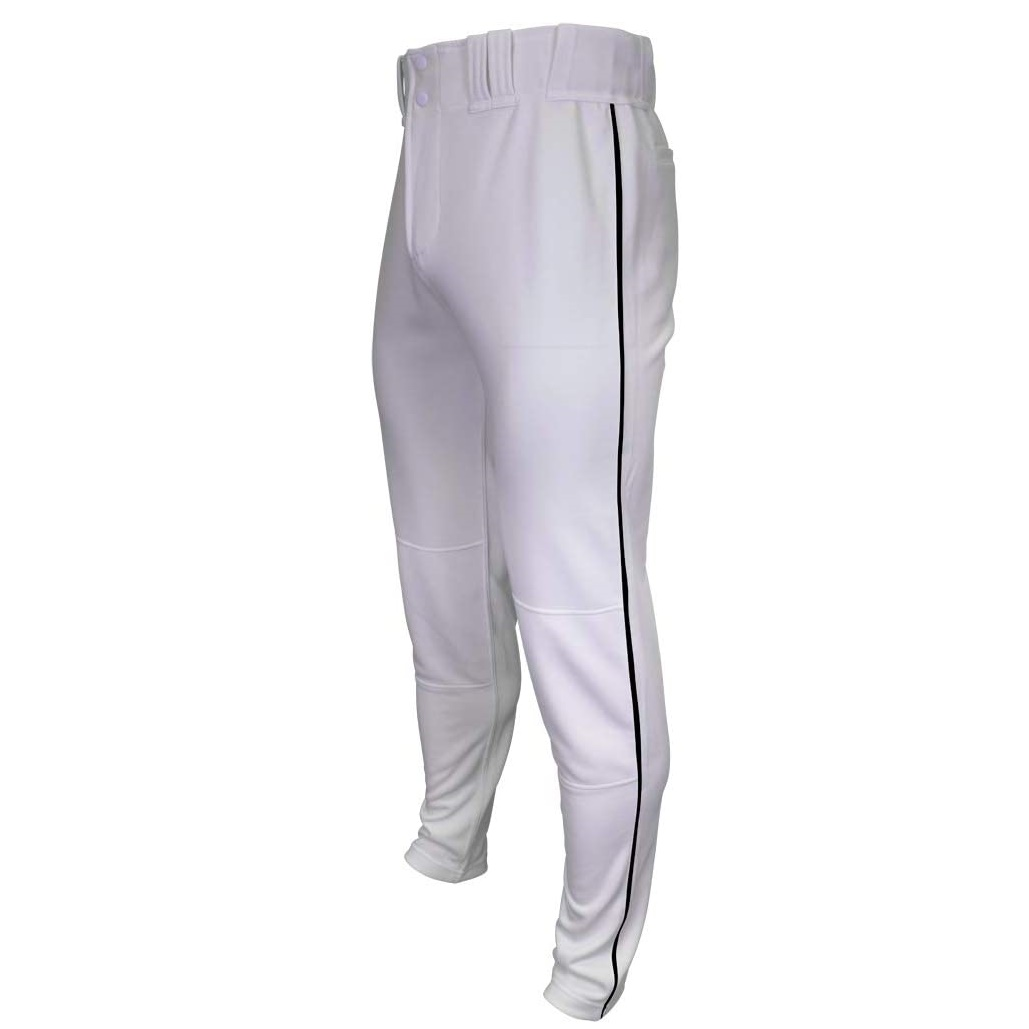 marucci-tapered-double-knit-piped-pant-white-black-white-black-youth-extra-large-mapttdkpip MAPTTDKPIP-WBK-YXL   100% polyester double-knit fabrication. 290GM2 weight for longer and extending life.