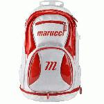 Marucci Team Back Pack (WhiteRed) : About Marucci Sports: Based in Baton Rouge, Louisiana, Marucci was founded by two former Major Leaguers and their athletic trainer - Kurt Ainsworth, Joe Lawrence and Jack Marucci who began hand-crafting bats for some of the best players in the game from their garage. Fast forward 10 years and that dedication to quality and understanding of players' needs has turned into an All-American success story. Marucci is now the No. 1 bat in baseball with over 350 Big League players swinging their wood. In stark contrast to other companies who pay players, Marucci has star players like Albert Pujols, Chase Utley, David Ortiz, Jose Bautista and Andrew McCutchen invest their hard-earned money and time by advising us on designs and testing our products.