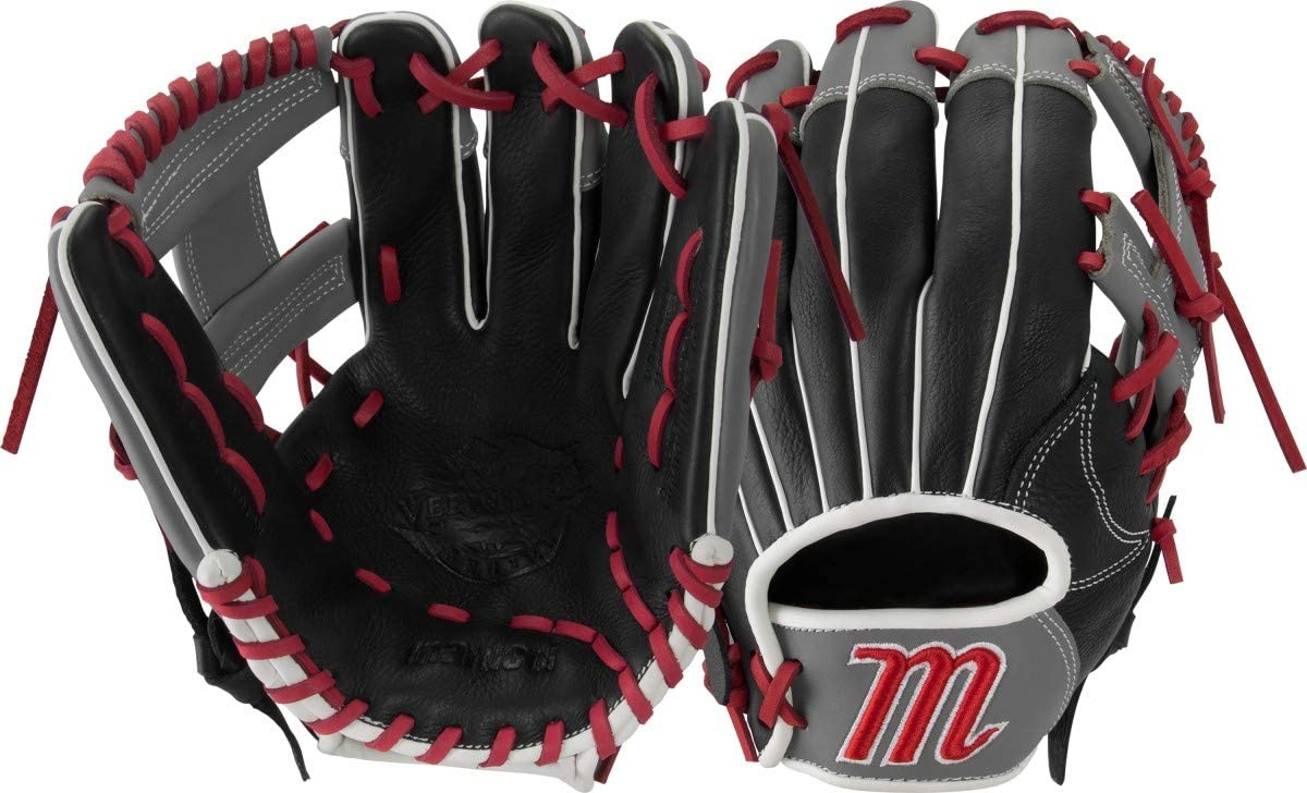 marucci-vermilion-11-inch-baseball-glove-right-hand-throw MFGVR11Y-RightHandThrow Marucci  Oiled cowhide leather shell and padded leather palm lining Reinforced finger