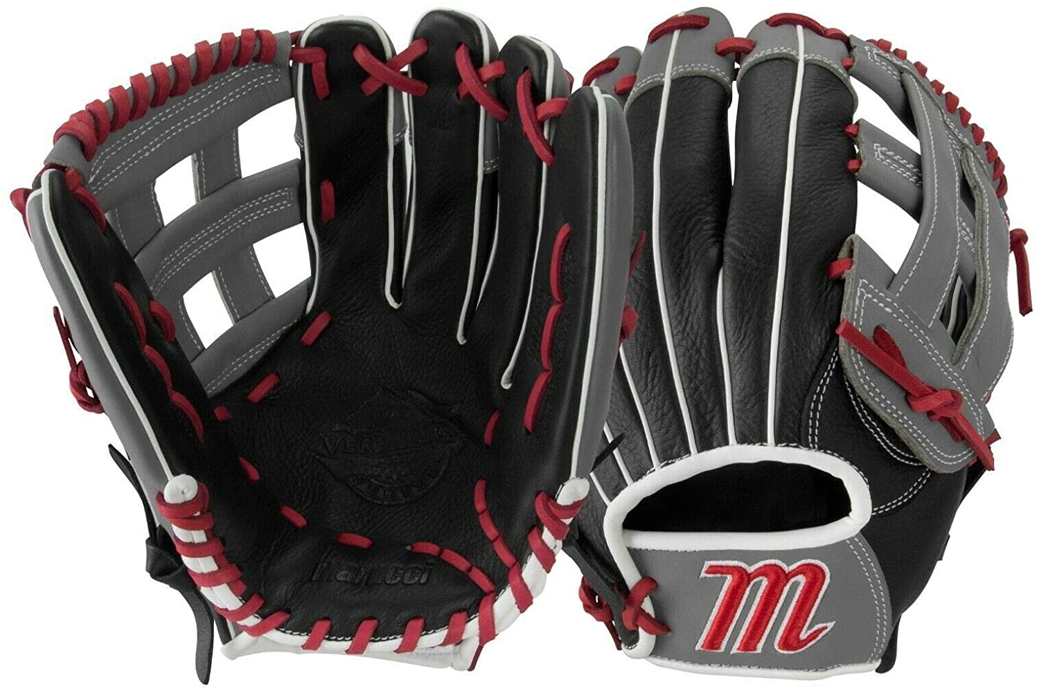 marucci-vermilion-series-vr1250y-12-50-baseball-glove-h-web-right-hand-throw MFGVR1250Y-BKR-RightHandThrow Marucci  Oiled cowhide leather shell and padded leather palm lining Reinforced finger