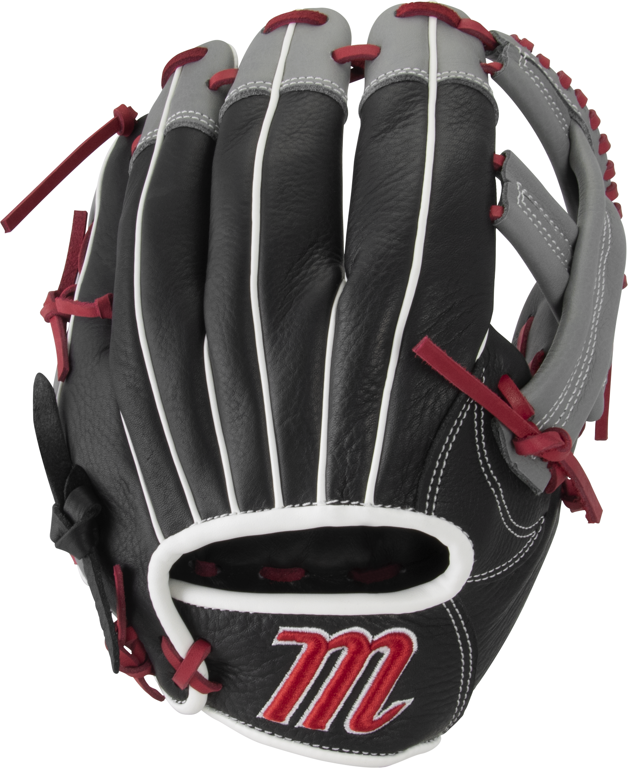 marucci-vermilion-youth-baseball-glove-vr1150y-11-5-single-post-right-hand-throw MFGVR115Y-BKR-RightHandThrow Marucci 849817099643 Oiled cowhide leather shell and padded leather palm lining Reinforced finger