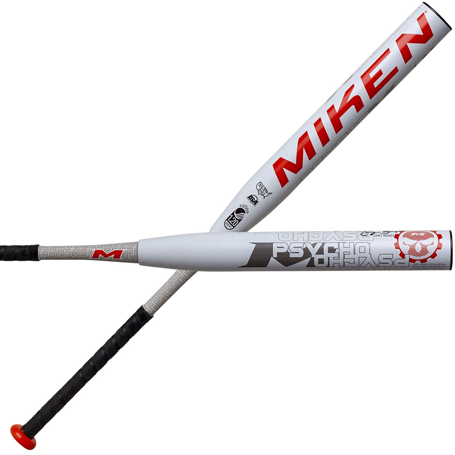 miken-2020-cory-briggs-psycho-14-maxload-usssa-slowpitch-softball-bat-34-inch-26-5-oz MCB20U-3-265 Miken 658925042973 Mikens breakthrough tetra-core tech optimizes performance by utilizing an inner core