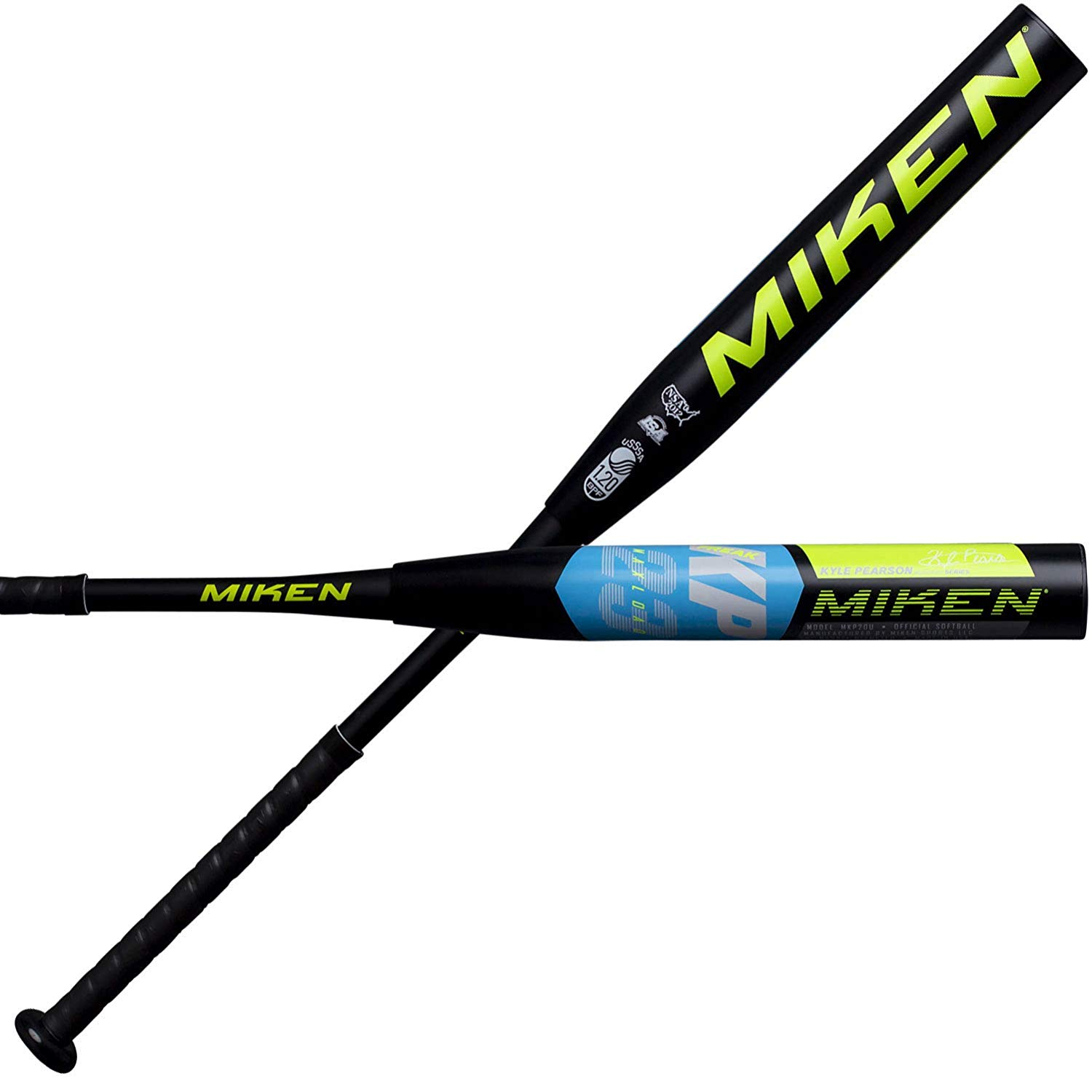 DESIGNED FOR ADULTS PLAYING RECREATIONAL AND COMPETITIVE SLOWPITCH SOFTBALL, this Miken Freak 23 Kyle Pearson model USSSA Maxload Slowpitch Softball Bat maximizes bat speed and hitting distance EXTENDED SWEET SPOT AND INCREASED FLEX due to 12 inch barrel, F2P Barrel Flex Technology, and revolutionary 100 COMP composite fibers that will also deliver legendary performance and durability INCREASED POWER THROUGH THE HITTING ZONE due to 0.5 oz maxload on the end of the bat 2.25 inch barrel diameter, 12 inch barrel length, 25oz bat weight APPROVED FOR PLAY IN ALL USSSA LEAGUES.