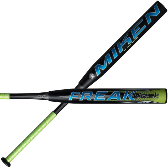 miken-freak-black-balanced-34-in-25-oz-slowpitch-softball-bat-usssa BLCKBU-3-25 Miken 658925032837 This two-piece bat is for the player wanting a balanced weighting