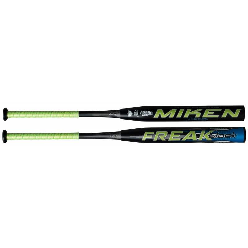 miken-freak-black-usssa-balanced-34-26-oz-slowpitch-softball-bat BLCKBU-3-26 Miken 658925032844 This two-piece bat is for the player wanting a balanced weighting
