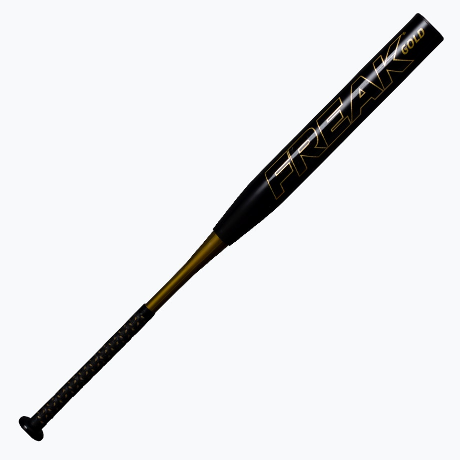 miken-freak-gold-maxload-usssa-slowpitch-softball-bat-34-in-27-oz MGOLDU-3-27  658925044540 TRIPLE MATRIX CORE + TECHNOLOGY INCREASES OUR EXCLUSIVE AEROSPACE GRADE MATERIAL
