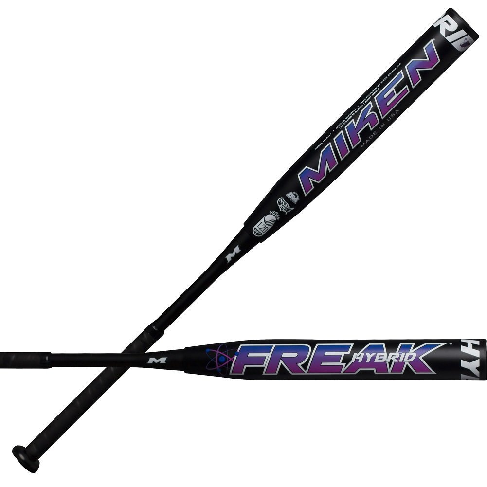 miken-freak-hybrid-usssa-slowpitch-softball-bat-34-inch-26-oz M12ALY-3-26 Miken 658925039041 2019 Freak Hybrid Maxload USSSA Bat Features 2-Piece Bat Construction Composite