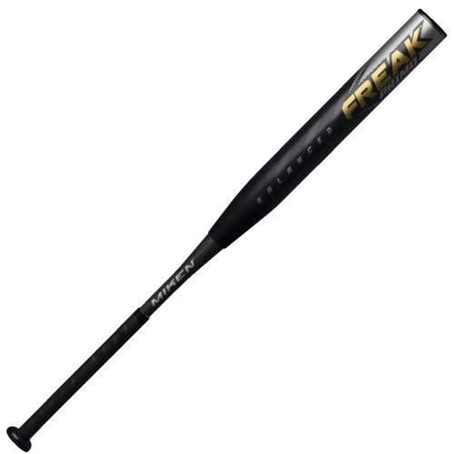 miken-freak-primo-14-in-balanced-usssa-slowpitch-softball-bat-mpribu-34-inch-27-oz MPRIBU-3-27 Miken 658925040719 4-Piece 100% Composite Design Maxload Weighting ASA Approved Made in the