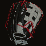 The Player Series line of gloves from Miken feature professionally inspired slowpitch specific patterns with enlarged pockets designed for 12 softballs. These gloves come game ready with full-grain leather construction for enhanced durability and off- the-shelf  performance. Miken has also employed PORON XRD Technology both in the palm and index fingers designed to significantly reduce ball impact. This glove has an adjustable non slip pull strap back for a custom fit. - 13.5 Inch Pattern - Pro H Web - Poron XRD Technology - Soft, Full-Grain Leather Construction - Adjustable Non Slip Pull Strap Back - Game Ready Feel - Break In: 90% Factory, 10% Player
