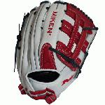 spanMiken Pro Series 13 slow pitch softball glove features soft, full-grain leather which provides improved shape retention and a great, game-ready feel. The Pro H Web pattern is an extremely strong web that provides ball snagging functionality, and the PORON XRD palm padding has been added to drastically reduce ball impact to your hand./span