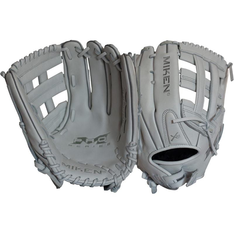 miken-pro-series-13-slow-pitch-softball-glove-left-hand-throw PRO130-WW-LeftHandThrow Miken 658925039928 <p>13.00 Inch Pattern Deep Pocket Design H-Web PORON XRD Palm Pad