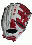 spanMiken Pro Series 14 slow pitch softball glove features soft, full-grain leather which provides improved shape retention and a great, game-ready feel. The Pro H Web pattern is an extremely strong web that provides ball snagging functionality, and the PORON XRD palm padding has been added to drastically reduce ball impact to your hand./span
