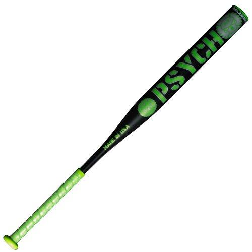 "miken-psycho-usssa-balanced-slowpitch-softball-bat-mpsy1-27oz MPSY1U-3-27 Miken 658925035586 14"" Barrel – Balanced Swing Weight 100% Composite – 1 Piece"