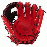 Mizuno 11.5 inch MVP Prime SE3 Baseball Glove GMVP1154PSE3 (Red-Black, Right Hand Throw) : Patent pending Heel Flex Technology increases flexibility and closure. Center pocket design. Strong edge creates a more stable thumb and pinky. Smooth professional style. Oil Plus leather, the perfect balance of oiled softness for exceptional feel and firm control that serious players demand. Durable Steer soft palm liner. Matching outlined embroidered logo. Two tone lace.