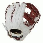Mizuno 11.5 inch MVP Prime SE3 Baseball Glove GMVP1154PSE3 (Silver-Brown, Right Hand Throw) : Patent pending Heel Flex Technology increases flexibility and closure. Center pocket design. Strong edge creates a more stable thumb and pinky. Smooth professional style. Oil Plus leather, the perfect balance of oiled softness for exceptional feel and firm control that serious players demand. Durable Steer soft palm liner. Matching outlined embroidered logo. Two tone lace.