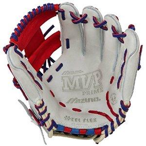 mizuno-11-5-inch-mvp-prime-se3-baseball-glove-gmvp1154pse3-silver-red-royal-right-hand-throw GMVP1154PSE3-Silver-Red-RoyalRightHndThr Mizuno 041969111383 Patent pending Heel Flex Technology increases flexibility and closure. Center pocket