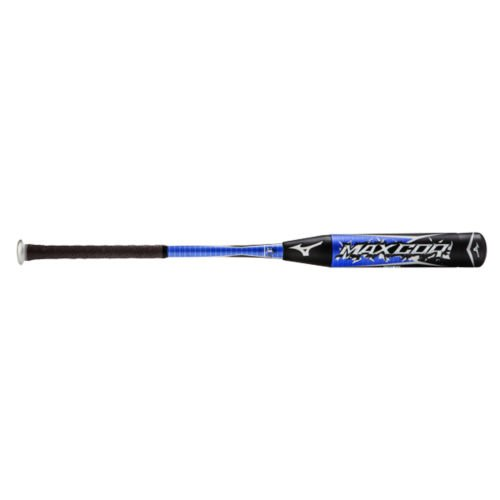 Mizuno 340251 MaxCor Adult BBCOR Baseball Bat (33-inch-30-oz) : The Mizuno MaxCor Baseball Bat is a power hitters dream! Made for distance - the patented V.P. sleeve increases the spin rate velocity for every ball off the bat - carrying each hit faster and farther than ever before. The hitting surface creates a wider circumferential sweet spot area. Aerospace grade aluminum alloy core is used to strengthen the bat while the Dynamic Damper transition piece from barrel to taper absorbs vibration for a better feel.