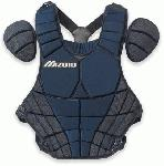 mizuno adult catchers samurai chest protector navy
