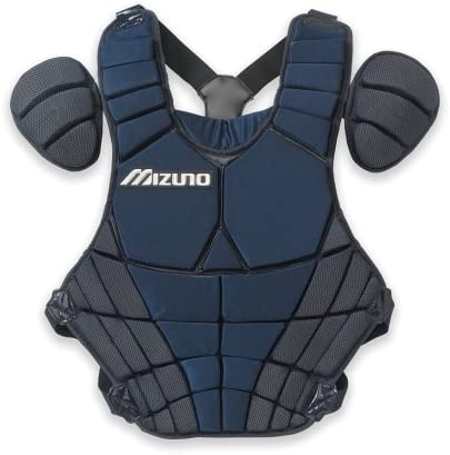 mizuno-adult-catchers-samurai-chest-protector-navy 380102.5151.01   Angled padding system ensures blocked balls drop down in front for