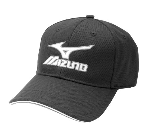mizuno-branded-hat-aflex 370140.BLACK.XL Mizuno 041969287958 Pre-curved bill Contrast sandwich bill 6 Panel Crown Mizuno Hat