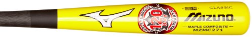 mizuno-composite-maple-carbon-wood-baseball-bat-yellow-and-black-32-inch MZMC271-32 Inch Mizuno 041969460702 The Mizuno Maple Carbon Composite MZMC271 features an advanced engineered maple