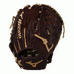 Mizuno Franchise Series have pre-oiled Java Leather which is game ready and long lasting. Hi-low lacing maintains the integrity of a fully laced web while providing added flexibility for easier closure. Parashock plus palm pad and comfortable hand based patterns.12 inch pattern.