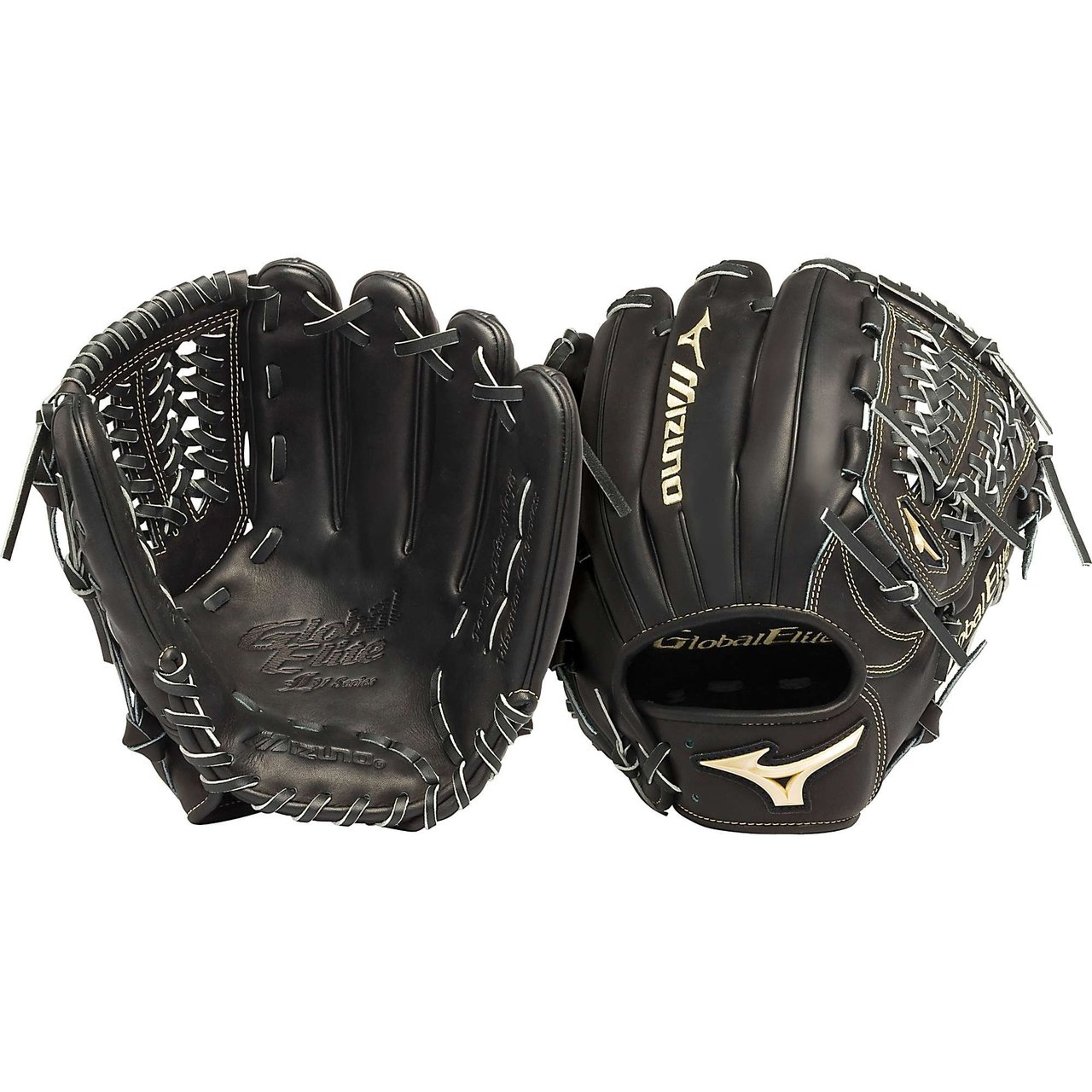 mizuno-gge51vbk-global-elite-vop-11-75-infield-baseball-glove-right-handed-throw GGE51VBK-Right Handed Throw Mizuno 041969457092 Mizuno GGE51VBK Global Elite VOP 11.75 Infield Baseball Glove Right Handed