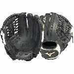 The Mizuno GGE70FP is a 13.00 outfielder's glove made from SteerSoft E-Lite leather, creating the softest and lightest Mizuno glove ever made. Features include the V-Flex Notch to help initiate easy closure and PowerLock wristband for a secure fit.
