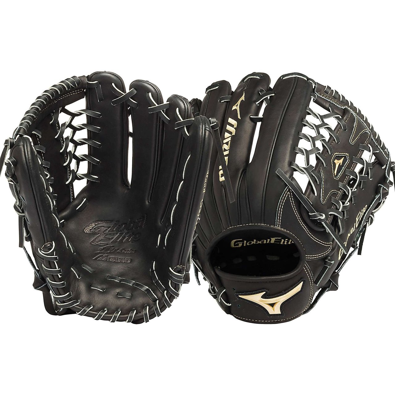 mizuno-gge71vbk-global-elite-vop-12-75-outfield-baseball-glove-right-handed-throw GGE71VBK-Right Handed Throw Mizuno New Mizuno GGE71VBK Global Elite VOP 12.75 Outfield Baseball Glove Right Handed