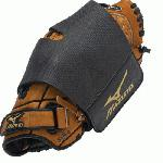 Mizuno Glove Wrap keeps glove and pocket in perfect shape. Flexcut panel for perfect fit for any glove size. Emobossed neoprene material for enhanced stretch and durability. Reinforced velcro attachment for additional strength.
