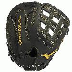 The Mizuno GMP300 is a 13.00-Inch Pro sized first basemen's mitt made from Deguchi Kip Leather, for the ultimate in feel and softness. The Mizuno Pro delivers Superior Quality with the finest Craftsmanship. When only the best glove will do, make it the MIZUNO PRO. Key Features Deguchi Kip Leather - Tighter fibers, proprietary tanning provide perfectly conditioned leather that is stronger than previous Mizuno Pros. Shika Palm Lining - Elite deerskin palm lining that provides the ultimate in soft feel. Speed Drive Technology - Gloves perfectly balanced by position to provide the fastest reactionbest response possible. Off-season Conditioning Program - Have mizuno get your glove into condition with the Off-Season Conditioning Program. Mizuno offers a one time repair and recondition of your glove to bring it back to its original glory. Glove bag included. 13.00 Inch Pro Sized.