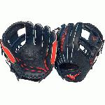 Mizuno MVP Prime Baseball Glove. Mizuno MVP Prime SE Baseball Glove 11.5 inch Baseball Glove GMVP1154PSE2. This Glove Features Center Pocket design, Strong Edge creates a more stable thumb and pinky. Smooth professional style Oil Plus leather - perfect balance of oiled softness for exceptional feel and firm control that serious players demand. Durable SteerSoft Palm Liner, Matching outlined embroidered logo. Plus grip thumb for exceptional comfort. 11.5 inch Infield Pattern. Deep 3 Web. Navy Red.