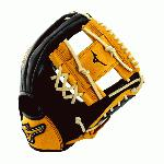 Mizuno GMVP1154SE4 MVP Prime SE Baseball Glove Black Gold Right Hand Throw