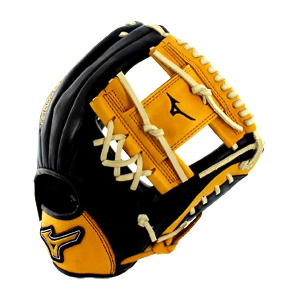 mizuno-gmvp1154se4-mvp-prime-se-baseball-glove-black-gold-right-hand-throw GMVP1154PSE4-BLACK-GOLD-RightHandThrow Mizuno 041969557440 Center Pocket Designed Patterns Pattern design that naturally centers the pocket