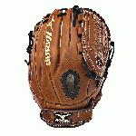 Soft, pebbled, Bio Throwback leather for game ready performance and long lasting durability. Center Pocket designed patterns offer the most versatile break-in possible. Soft, pebbled, Bio Throwback leather for game ready performance and long lasting durability. Ultrasoft palm liner. Featuring V-Flex Notch to help initiate easy closure. PowerLock closure for maximum performance. Vertically laced heel specific for fastpitch patterns. 11.75 Inch Infield Pattern. Tartan 10 Web. One Year Manufacturer's Warrany.