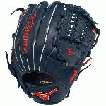 Mizuno GMVP1177PSE2 Baseball Glove MVP Prime 11.75 inch Navy/Red, Right Hand Throw