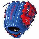 Mizuno GMVP1177PSE3 Baseball Glove 11.75 inch (Royal-Red, Right Hand Throw) : Patent pending Heel Flex Technology increases flexibility and closure. Center pocket design. Strong edge creates a more stable thumb and pinky. Smooth professional style. Oil Plus leather, the perfect balance of oiled softness for exceptional feel and firm control that serious players demand. Durable Steer soft palm liner. Matching outlined embroidered logo. Two tone lace