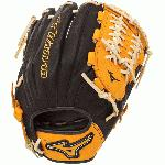 Mizuno GMVP1177SE4 MVP Prime SE Baseball Glove Black Gold Right Hand Throw