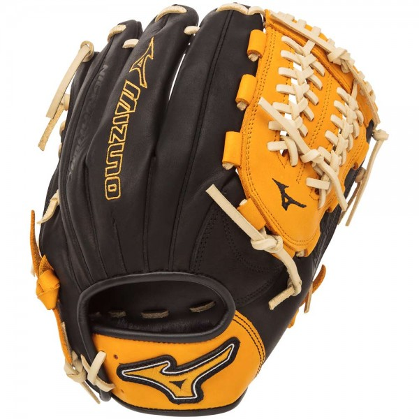 mizuno-gmvp1177se4-mvp-prime-se-baseball-glove-black-gold-right-hand-throw GMVP1177PSE4-BLACK-GOLD-RightHandThrow Mizuno 041969557518 11.75 Inch Pattern Bio Soft Leather - Pro-Style Smooth Leather That