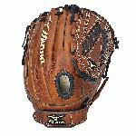 The Mizuno GMVP1200F1 is a 12.00-Inch infielder/pitcher's glove made from soft Bio Throwback leather and is game ready.