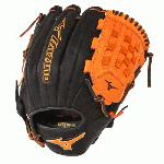 Mizuno GMVP1200PSE3 MVP Prime Baseball Glove 12 inch (Black-Orange, Right Hand Throw) : Patent pending Heel Flex Technology increases flexibility and closure. Center pocket design. Strong edge creates a more stable thumb and pinky. Smooth professional style. Oil Plus leather, the perfect balance of oiled softness for exceptional feel and firm control that serious players demand. Durable Steer soft palm liner. Matching outlined embroidered logo. Two tone lace.