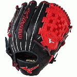 Mizuno GMVP1200PSE3 MVP Prime Baseball Glove 12 inch (Navy-Red, Right Hand Throw) : Patent pending Heel Flex Technology increases flexibility and closure. Center pocket design. Strong edge creates a more stable thumb and pinky. Smooth professional style. Oil Plus leather, the perfect balance of oiled softness for exceptional feel and firm control that serious players demand. Durable Steer soft palm liner. Matching outlined embroidered logo. Two tone lace.