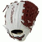 Mizuno GMVP1200PSE3 MVP Prime Baseball Glove 12 inch (Silver-Brown, Right Hand Throw) : Patent pending Heel Flex Technology increases flexibility and closure. Center pocket design. Strong edge creates a more stable thumb and pinky. Smooth professional style. Oil Plus leather, the perfect balance of oiled softness for exceptional feel and firm control that serious players demand. Durable Steer soft palm liner. Matching outlined embroidered logo. Two tone lace.