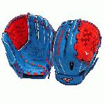 Mizuno GMVP1250PSEF3 Fastpitch Softball Glove 12.5 inch (Royal-Red, Right Hand Throw) : Patent pending Heel Flex Technology increases flexibility and closure. Center pocket design. Strong edge creates a more stable thumb and pinky. Smooth professional style. Oil Plus leather, the perfect balance of oiled softness for exceptional feel and firm control that serious players demand. Durable Steer soft palm liner. Matching outlined embroidered logo. Two tone lace.