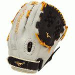 12.50 Inch Pattern Bio Soft Leather - Pro-Style  Smooth Leather That Balances Oil and Softness with Firm Control Center Pocket Design - Naturally Centers the Pocket Under the Index Finger for the Perfect Break-In Closed Back with PowerLock Wrist Strap Colorway  Black   Orange Fastpitch Softball Specific Fit and Design Heel Flex Technology - Creates A More Flexible   Forgiving Heel for Ultimate Feel and Performance Infield   Pitcher   Outfield Model Plus Grip Thumb - Ultra Comfortable Padded Thumb Slot Professional Level Lace - Same High-Quality Laces Offered in Mizuno Pro Gloves Strong Edge Lace Design - Adds Stability to Thumb and Pinky Stall to Increase Longevity Trident Web Ultra Soft Palm Liner - Soft Finish for Excellent Feel