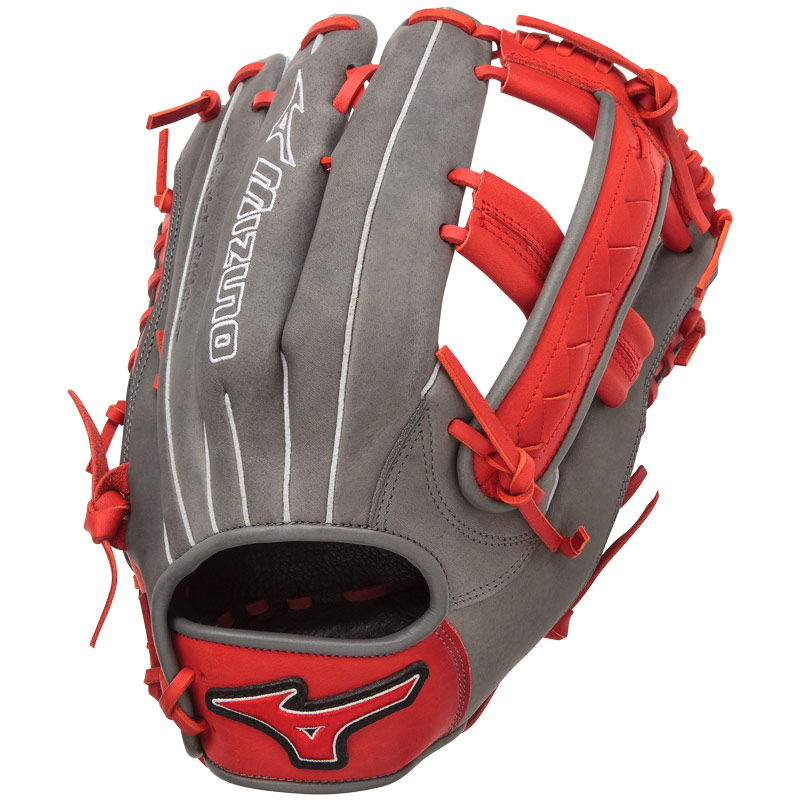 mizuno-gmvp1250pses4-mvp-prime-softball-glove-se-mitts-smoke-red-right-hand-throw GMVP1250PSES4-SMOKE-RED-RightHandThrow Mizuno 041969558409 12.50 Inch Pattern Bio Soft Leather - Pro-Style Smooth Leather That