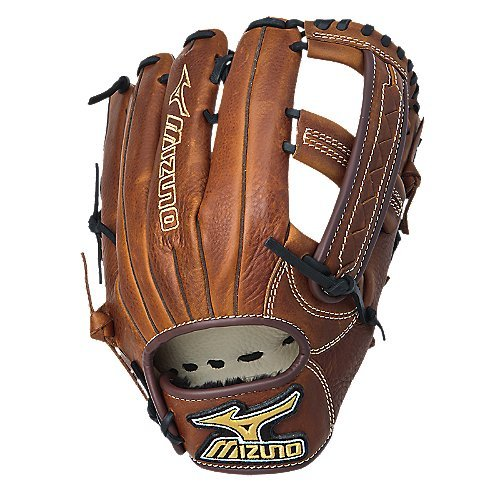 mizuno-gmvp1250s1-mvp-softball-fielders-mitt-copper-12-50-inch-left-handed-throw GMVP1250S1-Left Handed Throw Mizuno 041969371343 Soft pebbled Bio Throwback leather for game ready performance and long